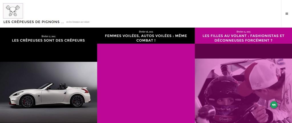 Les crepeuses de pignons blog auto féminin fait par des hommes