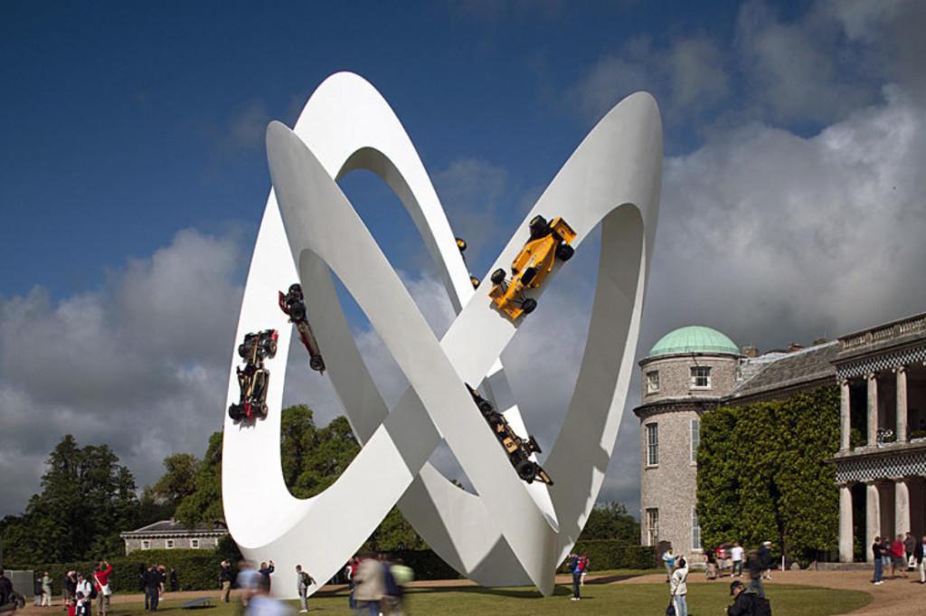Lotus 2012, sculpture Gerry Judah pour le Goodwood Festival of Speed