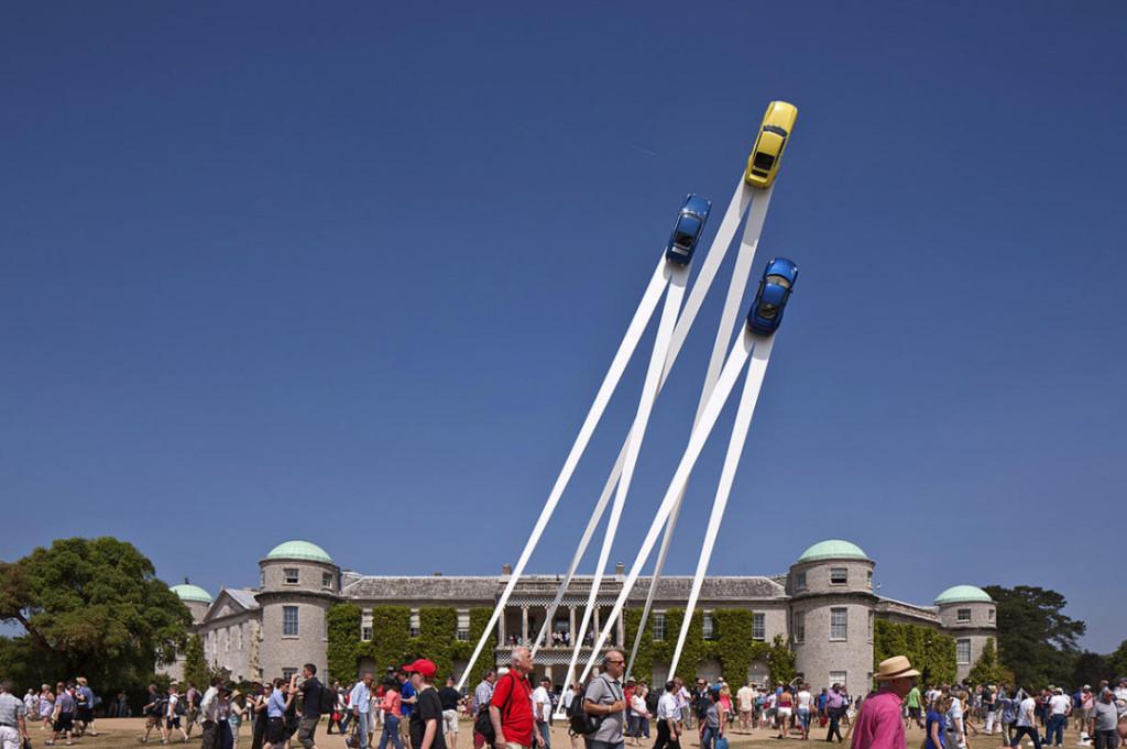 Porsche 2013, sculpture Gerry Judah pour le Goodwood Festival of Speed