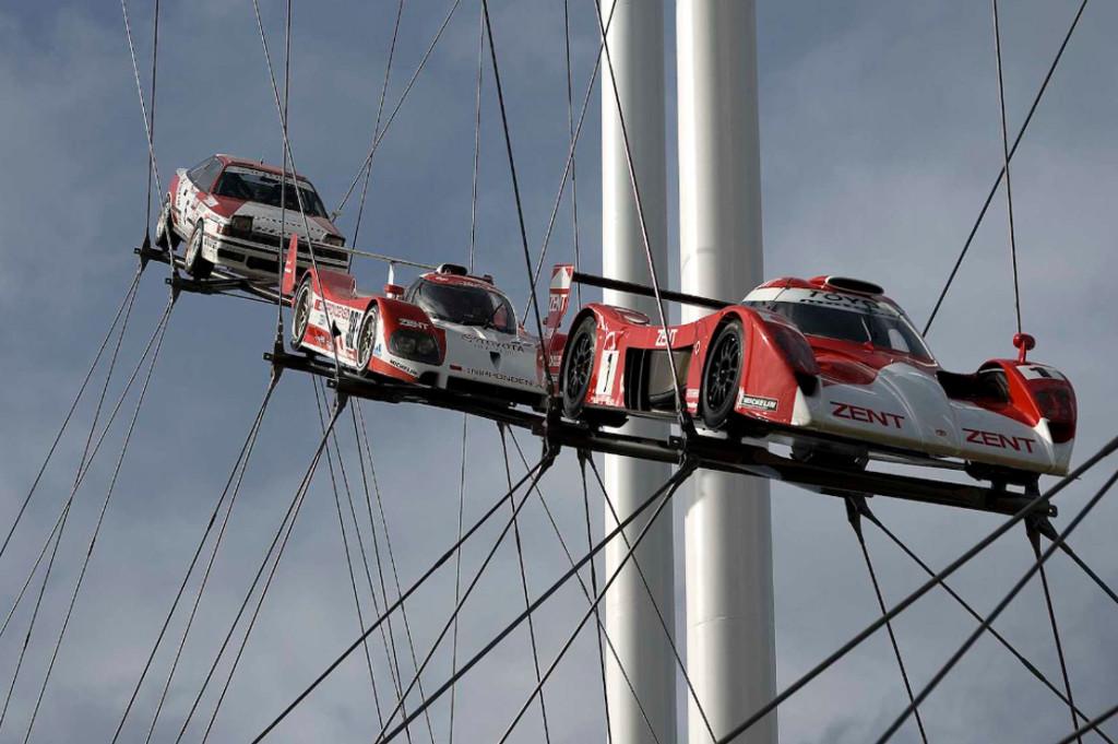 Toyota 2007, sculpture Gerry Judah pour le Goodwood Festival of Speed