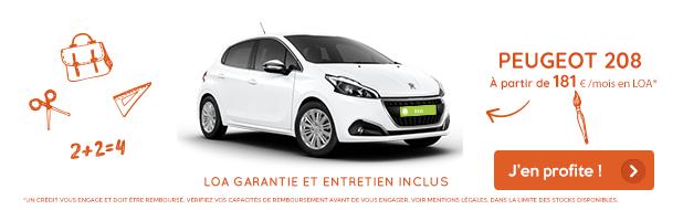 Offre mois de septembre VPN Autos Peugeot 208