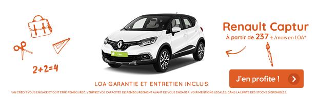 Offre mois de septembre VPN Autos Renault Capture