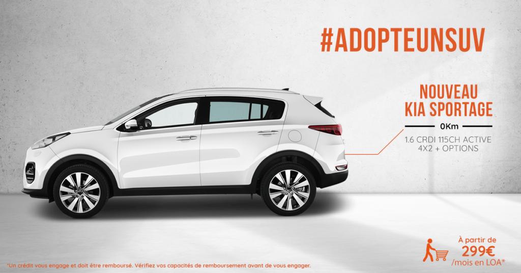 Acheter le nouveau SUV Kia Sportage à prix mandataire auto avec VPN Autos