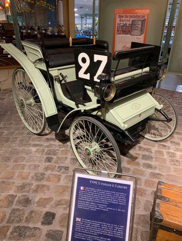 Peugeot Type 5 au Musée de l'Aventure Peugeot