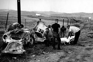 Accident de James Dean Porsche 555 Spyder