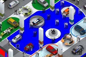 Stand Ford salon de Francfort 2011 (intérieur) - VPN distributeur automobile multimarques a prix mandataire - Aquitaine, Bordeaux, Toulouse, Agen, Muret