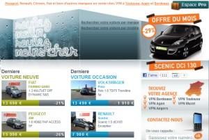 Le Renault Scénic 3 est mis à l'honneur - VPN distributeur automobile multimarques a prix mandataire - Aquitaine, Bordeaux, Toulouse, Agen, Muret et Angers