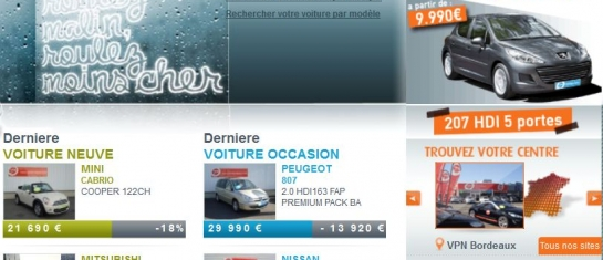 Offre du mois décembre 2011 - Peugeot 207