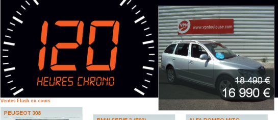 120 h Chrono VPN : vente flash voiture