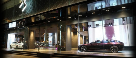 Premier showroom DS World installé à Shangai