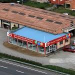 VPN Ariege, vue aérienne du parc et centre automobile