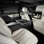 Habitacle de la future Mercedes Classe S, technologie haute pointe