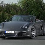 Photo avant gauche du Boxster de Porsche préparé par Schmidt Revolution