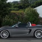 Photo du profil gauche du Porsche Boxster de Schmidt Revolution