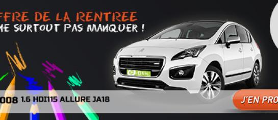 Offre Peugeot 3008 rentrée 2014