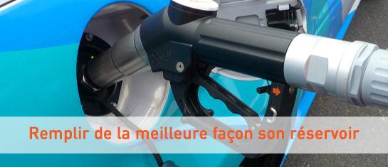 Comment bien remplir son réservoir d'essence