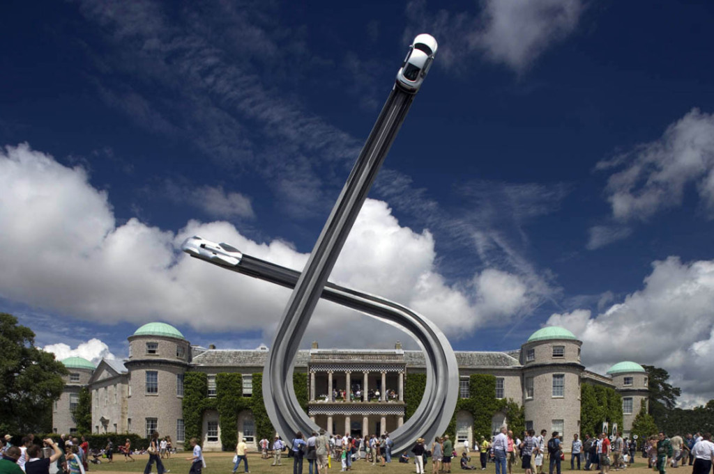 Audi 2009, sculpture Gerry Judah pour le Goodwood Festival of Speed
