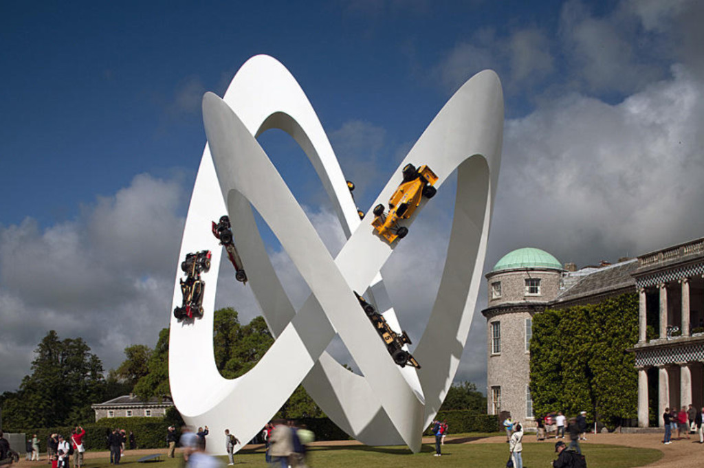 Lotus 2012, sculpture Gerry Judah pour le Goodwood Festival of Speed