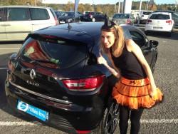 Essai Renault Clio 4 spécial défi d'halloween : vue arrière de la voiture