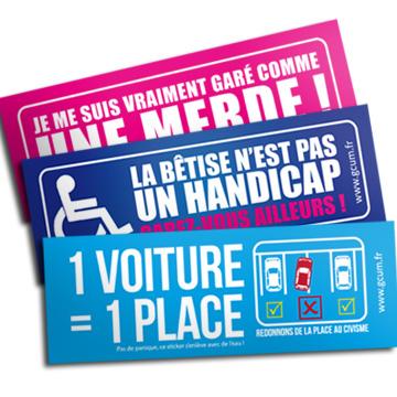 Stickers Garé Comme Une Merde