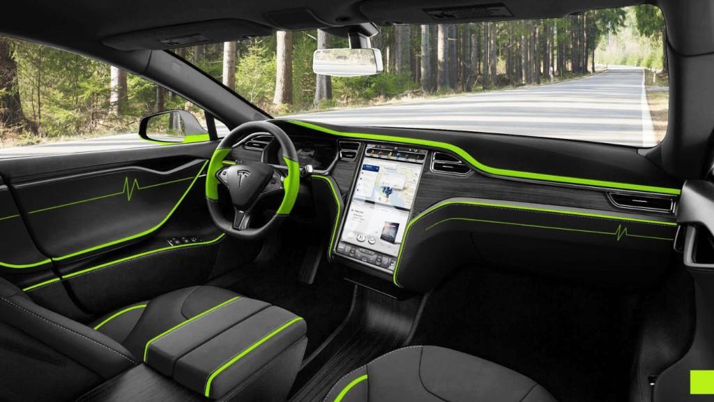 Mansory Tesla S, vue intérieure