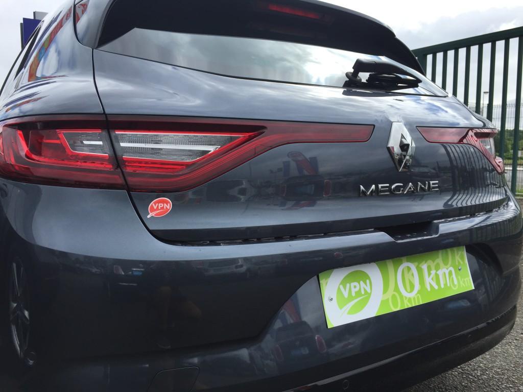 Vue arrière de la Nouvelle Renault Mégane
