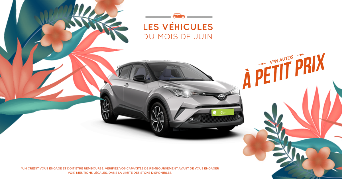 Toyota C-HR HYBRIDE 122H DYNAMIC 2WD E-CVT + GPS - Les véhicules du mois de Juin - VPN Autos