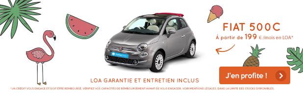 Votre Fiat 500C à partir de 199 €/mois*