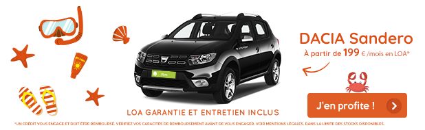 Offre d'août VPN Autos Dacia Sandero