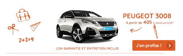 Offre mois de septembre VPN Autos Peugeot 3008