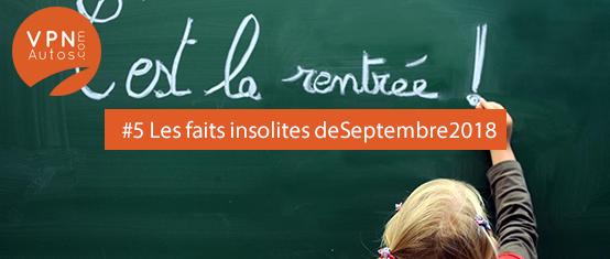 10 faits insolites du mois de Septembre