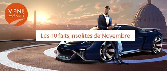 10 faits autos croustillants du mois de Novembre