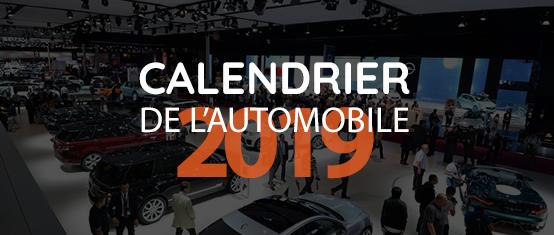 Le calendrier automobile 2019