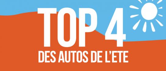 Top 4 des voitures de l'été