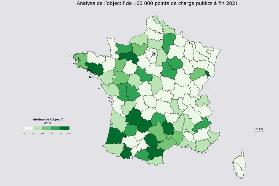 Bornes électriques : Les départements français prêts fin 2021